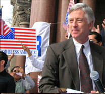 Rocky at a Keynote Speech for Compassionate Reform for Immigration Laws